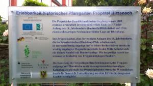 Probsteigarten Hirzenach, ein LEADER-Projekt