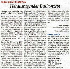 Leserbrief von Ernst Deiringer am 4.7.2016 im MM